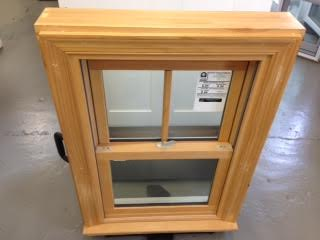 Composite Double Hung with wood grain interior